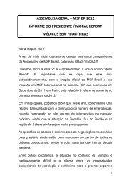 assembleia geral – msf br 2012 informe do presidente / moral report ...