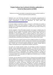 Projeto Carbono Suruí - Observatório do REDD