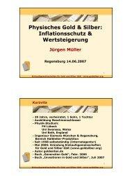 Physisches Gold & Silber: Inflationsschutz & Wertsteigerung