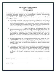 Trailer Restrictions & Hold Harmless Form - Storey County!