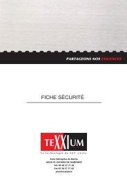 FICHE SÉCURITÉ - texxium.fr