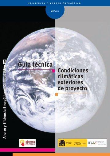 Guía Técnica. Condiciones climáticas exteriores de proyecto