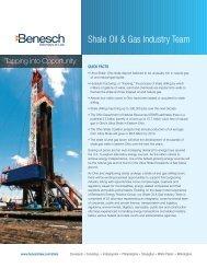 Shale Oil & Gas Team Brochure - Benesch