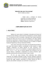 PROJETO DE LEI Nº 792, DE 2007 COMPLEMENTAÇÃO DE VOTO I – RELATÓRIO