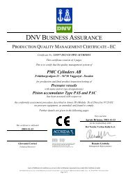 Production Quality Management Certificate - PMC Group