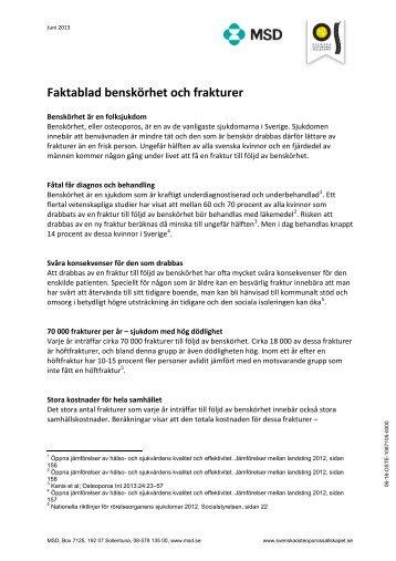 Benskörhet och frakturer (PDF-document, 143 kB) - MSD