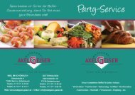 Party-Service-Flyer (pdf-Datei) -  Metzgerei Geiser