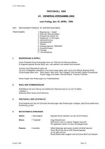 GV-Protokoll 1999 - lcw.ch