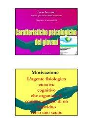 Caratteristiche psicologiche dei giovani (Mazzon 4 ... - Fidal Piemonte