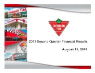 Q2 2011 Earnings Conference Call Presentation - Canadian Tire ...