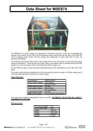 MSE874 Data Sheet - Mclennan Servo Supplies Ltd.