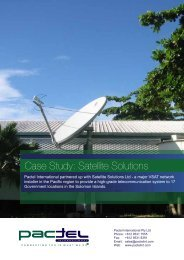 Case Study: Satellite Solutions - Pactel International