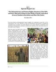 Special Report on: The Humanitarian and Human Rights Situation of ...