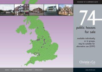 74 public houses for sale - Christie + Co Corporate