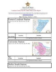 Daily Crime Report - Loudoun County Sheriff