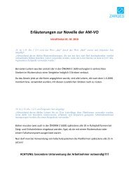 Erläuterungen zur Novelle der AM-VO