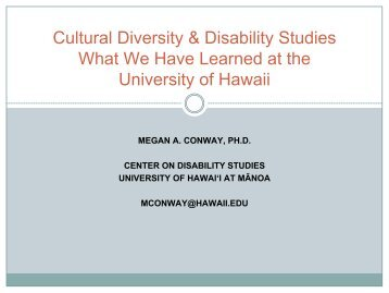 Multicultural Issues in Disability Studies - Students with Disabilities ...