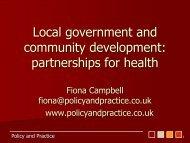 Dr Fiona Campbell Presentation - Community Development Health ...