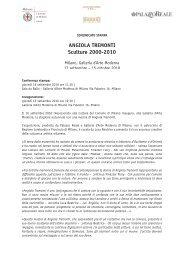 Comunicato stampa - Galleria d'Arte moderna di Milano