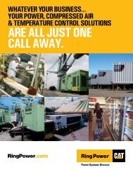 ARE ALL JUST ONE CALL AWAY. - Ring Power Systems