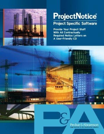 Project notice Final - Peckar & Abramson