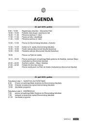 Agenda - Ekonomski fakultet Subotica