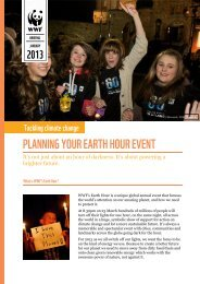 PLANNING YOUR EARTH HOUR EVENT - WWF UK