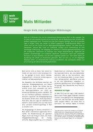 Brennpunkt Nr. 31_ Malis Milliarden - Deutsche Welthungerhilfe
