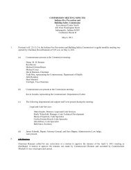 COMMISSION MEETING MINUTES - State of Indiana