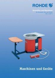 Maschinen und Geräte Brennöfen und Maschinen - Keramik-Design