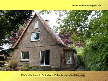 Einfamilienhaus in Quickborn Ecke Jahnstraße/Birkenweg www ...