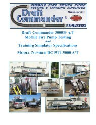 Draft Commander 3000® A/T Mobile Fire Pump - Weis Fire & Safety ...