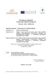 Príloha 2 Príručka pre žiadateľa - Fond sociálneho rozvoja