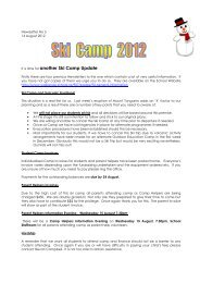 It is time for another Ski Camp Update. - Waikanae School