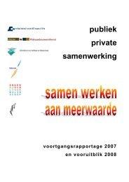 publiek private samenwerking - PPS bij het Rijk