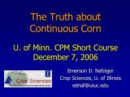 The Truth about Continuous Corn