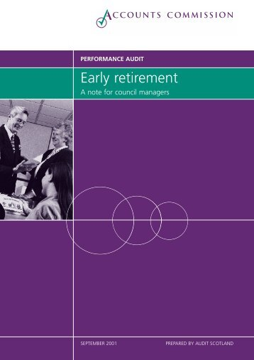 Early retirement: a note for council managers (PDF ... - Audit Scotland