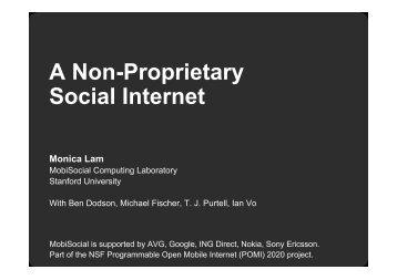 A Non-Proprietary Social Internet - HPTS