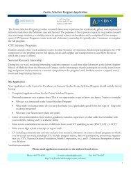 Center Scholars Program Application - Johns Hopkins Center for ...