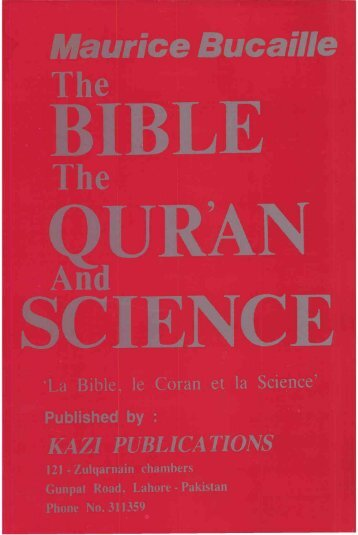 The Bible,The Qur'an and Science - Islamicbook.ws