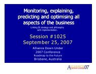 Monitoring, explaining, predicting and optimising all aspects of ...