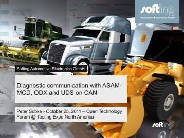 Diagnostic communication with ASAM-MCD, ODX and UDS on CAN