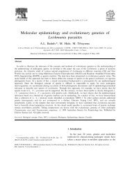 Molecular epidemiology and evolutionary genetics of ... - IRD