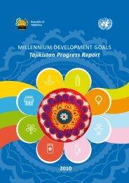 MDG Tajikistan Progress Report 2010 - Unesco