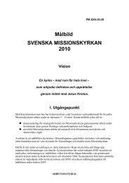 MÅLBILD FÖR SVENSKA MISSIONSKYRKAN 2010