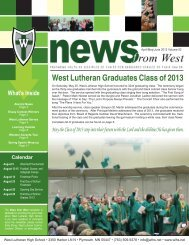Here - West Lutheran High School