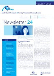 Newsletter 5 - Australian Domestic and Family Violence Clearing ...