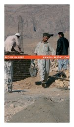 PEOPLE IN NEED ANNUAL REPORT 2005 - Člověk v tísni