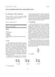 POLY(α-HYDROXYKYSELINY) JAKO NOSIČE LÉČIV - Chemické listy