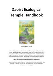 Daoist Ecological Temple Handbook - Alliance of Religions and ...